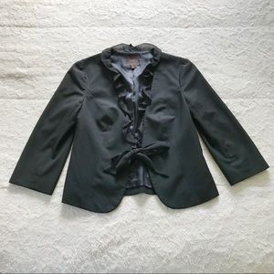 The Limited Collection Black Tie Front Blazer